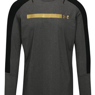 Čierno-sivé pánske melírované funkčné tričko Under Armour Perpetual