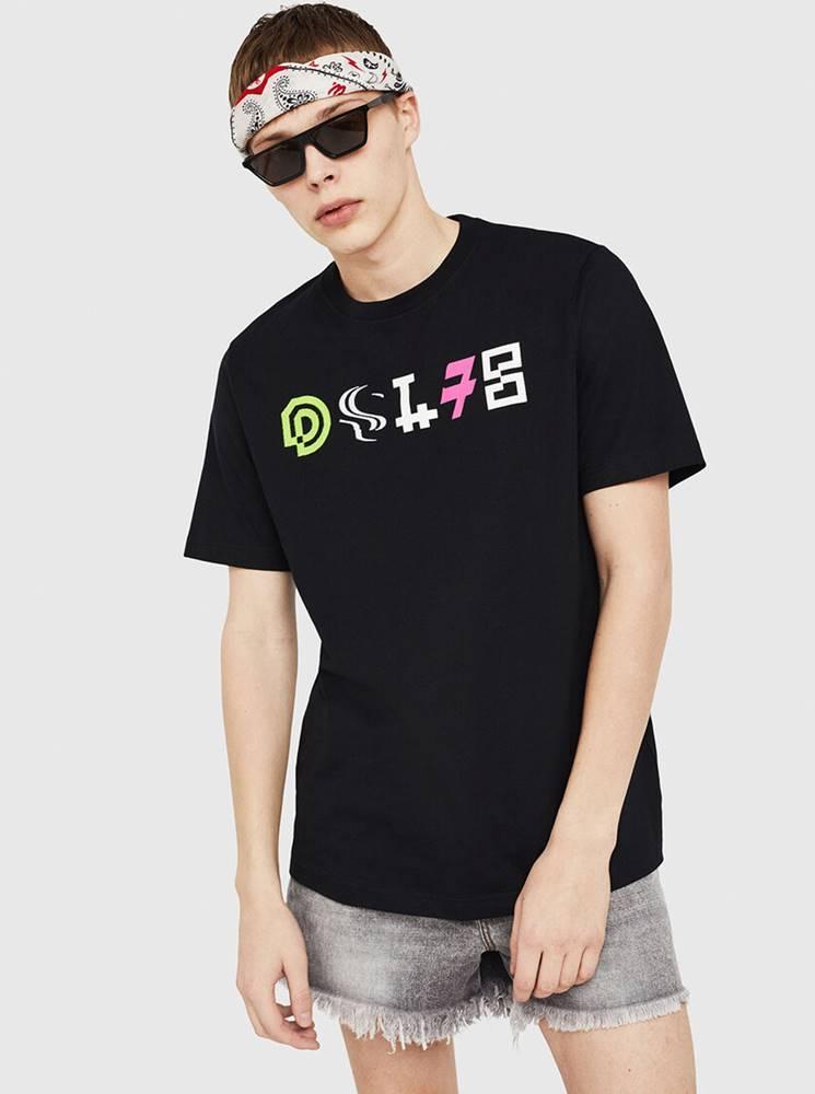 Diesel Čierne pánske tričko Diesel