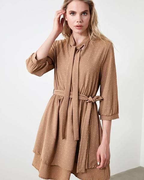 Hnedé šaty Trendyol