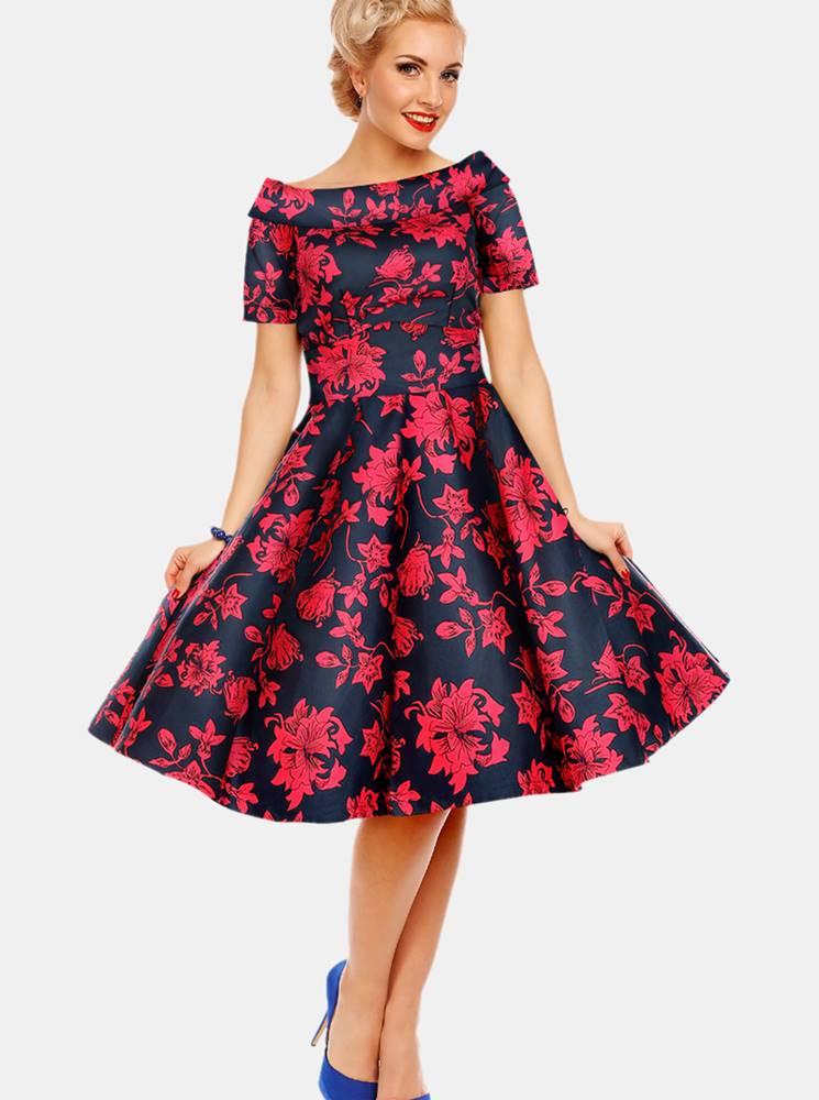 Dolly & Dotty Ružovo-modré kvetované šaty Dolly & Dotty