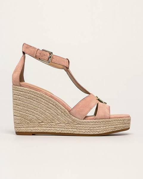Ružové sandále Lauren Ralph Lauren