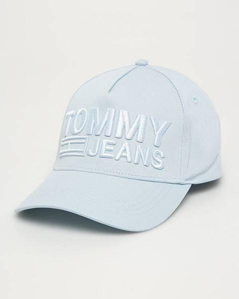 Modrá čiapka Tommy Jeans