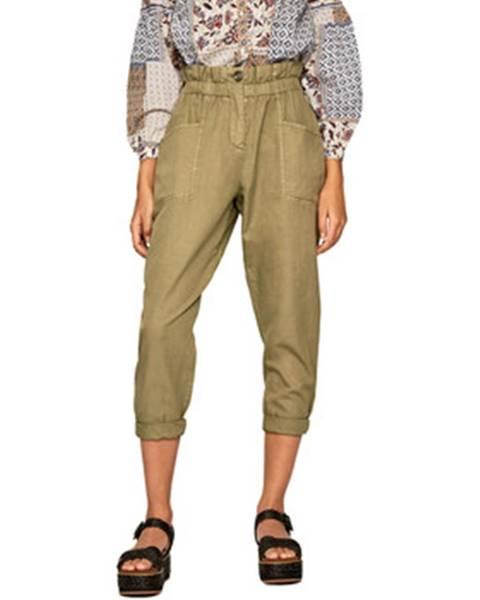 Zelené nohavice Pepe jeans