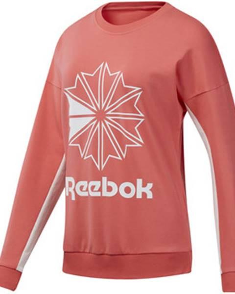 Ružová mikina Reebok Sport