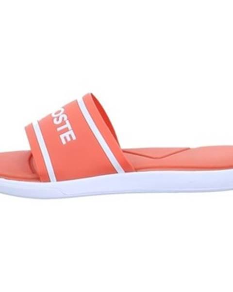 Oranžové sandále Lacoste