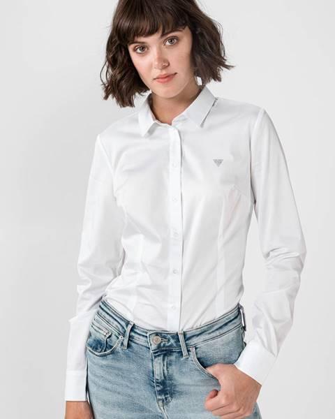 Biela košeľa na gombíky Guess