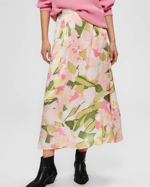 Ružová sukňa Selected Femme