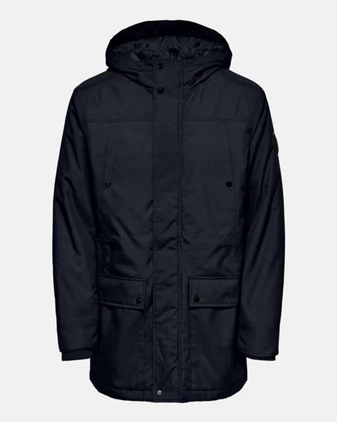 Tmavomodrá zimná bunda ONLY & SONS