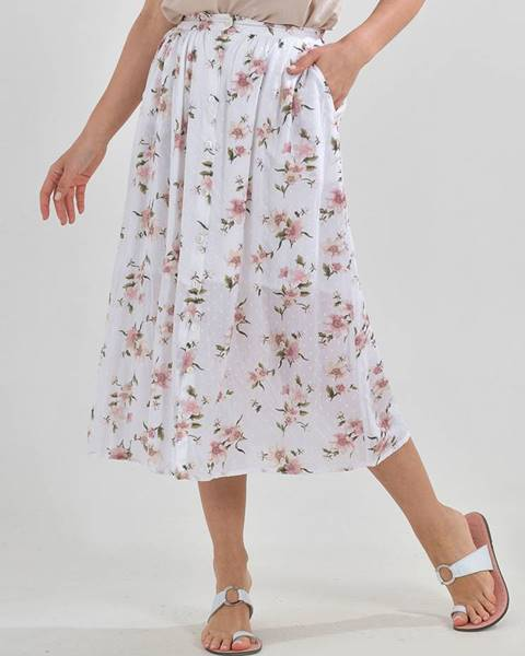 Biela sukňa ble