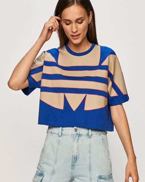 Modré tričko adidas Originals