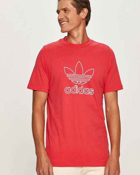 Ružové tričko adidas Originals