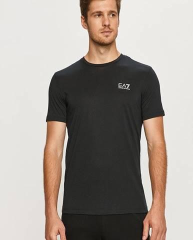 Tmavomodré tričko EA7 Emporio Armani