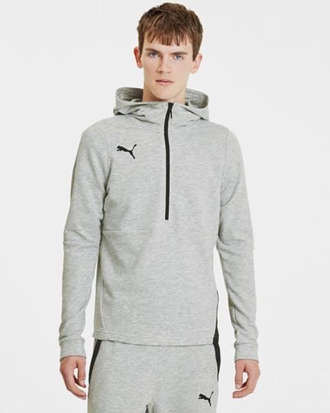 Sivá bunda s kapucňou Puma
