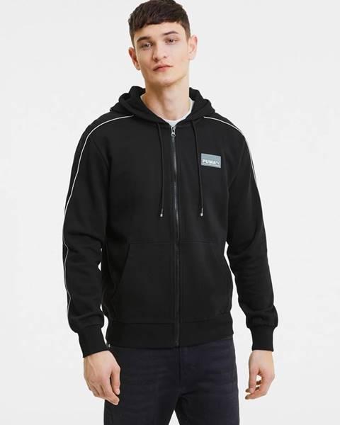 Čierna bunda s kapucňou Puma
