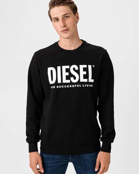 Čierna bunda bez kapucne Diesel