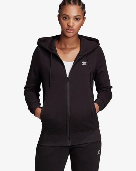 Čierna mikina s kapucňou adidas Originals