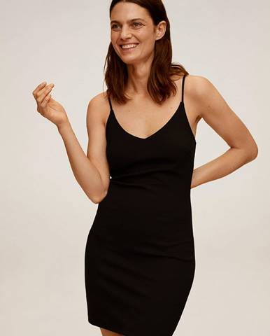 Čierne šaty Mango