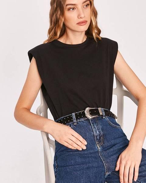 Čierne tričko Answear Lab