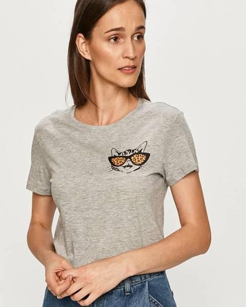 Sivé tričko Jacqueline de Yong