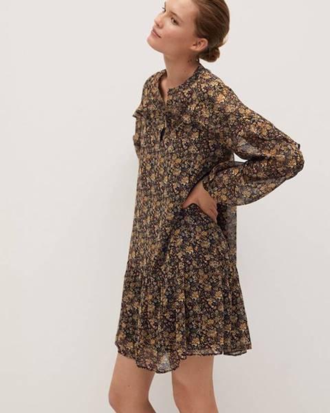 Hnedé šaty Mango