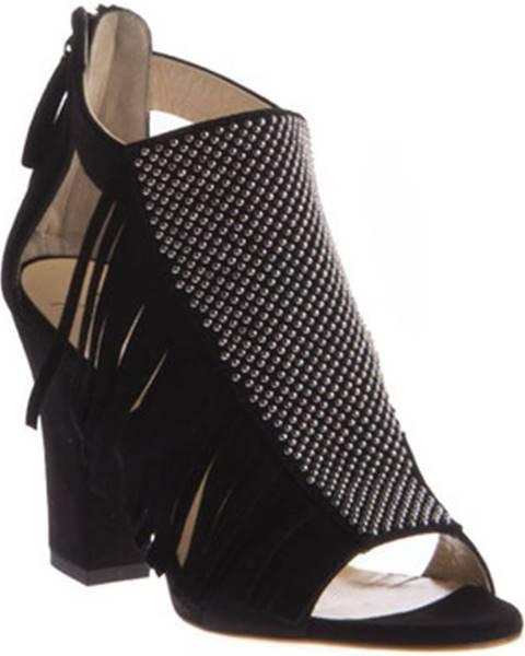 Čierne sandále Giuseppe Zanotti