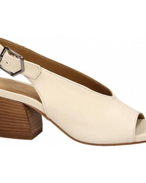 Biele sandále Salvador Ribes