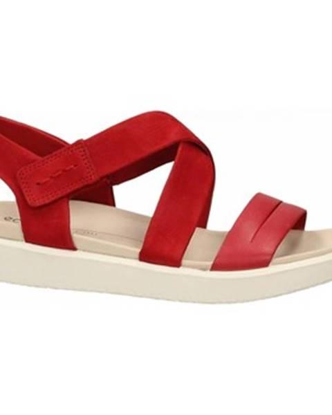 Červené sandále Ecco