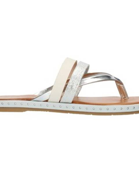 Strieborné sandále Cala Molina