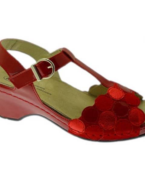 Červené sandále Calzaturificio Loren