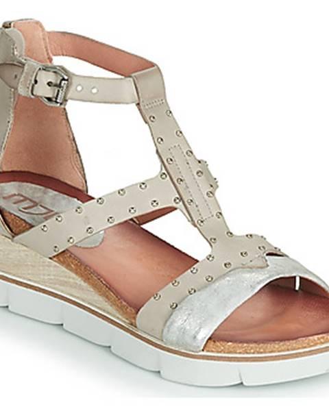 Strieborné sandále Mjus