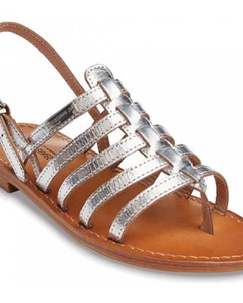 Strieborné sandále Les Tropéziennes par M Belarbi