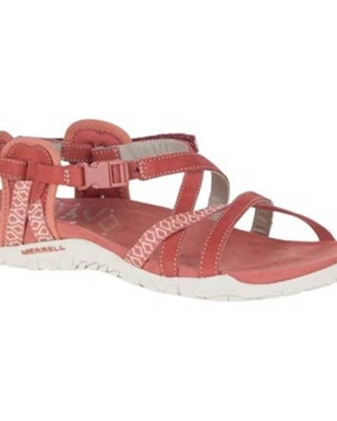 Červené sandále Merrell