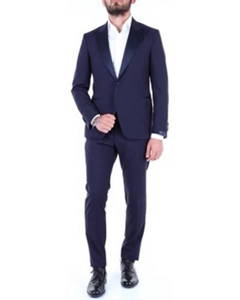 Modrý oblek Bagnoli Sartoria Napoli
