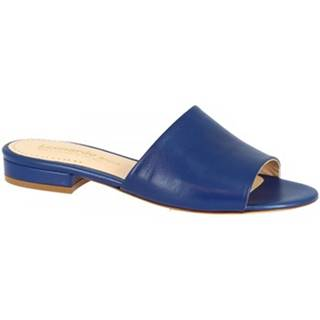 Šľapky Leonardo Shoes  016 NAPPA COBALTO