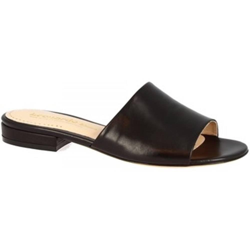 Leonardo Shoes Šľapky Leonardo Shoes  016 NAPPA NERO
