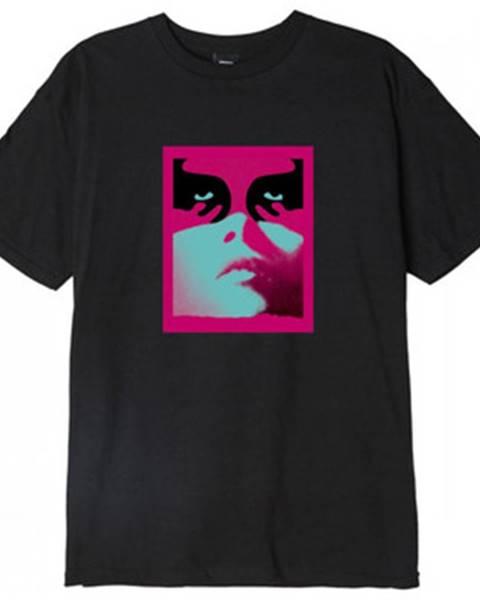 Čierne tričko Obey