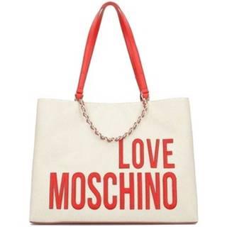 Veľká nákupná taška/Nákupná taška Love Moschino  Canvas Embroidery