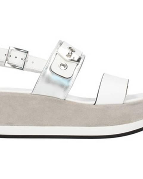 Biele sandále Nero Giardini