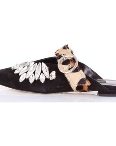 Čierne sandále Nora Barth