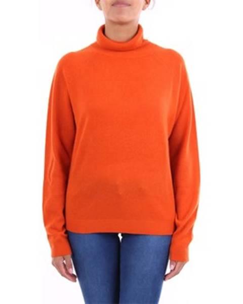 Oranžový sveter Absolut Cashmere