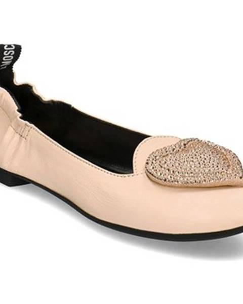 Béžové topánky Love Moschino