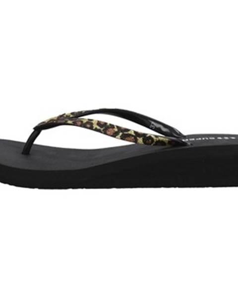 Čierne sandále Superga