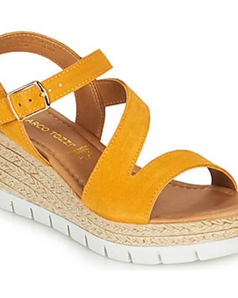Žlté sandále Marco Tozzi