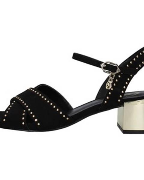 Čierne sandále Gattinoni