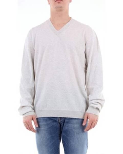 Biely sveter Fabrizio Del Carlo