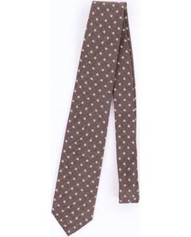 Hnedá kravata Barba Napoli