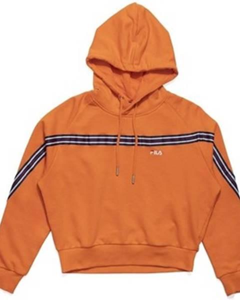 Oranžová mikina Fila