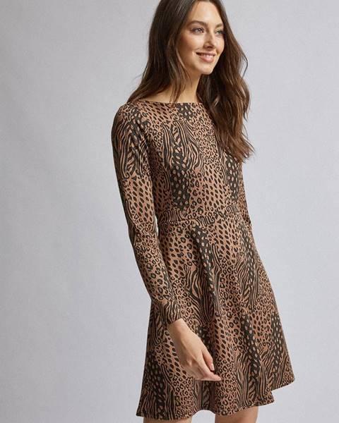 Hnedé šaty Dorothy Perkins