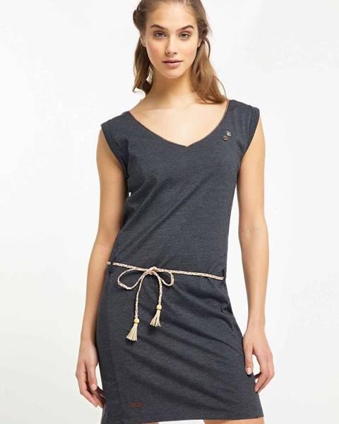 Tmavosivé šaty Ragwear