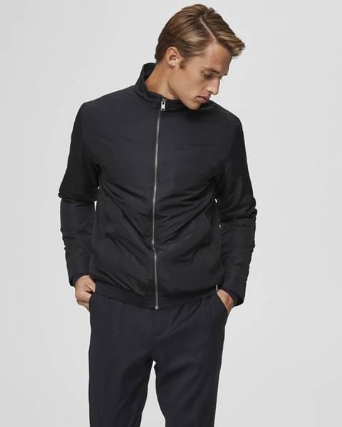Čierna bunda Selected Homme